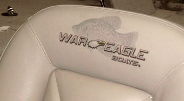 Printed Leather Seat